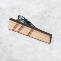 Minimalist lines timber tie clip or tie bar