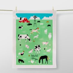 Holy Sh*t I Love You Tea Towel by Blue Q