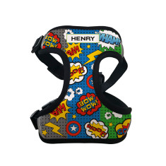 Personalised Pet Harness (Superhero Comic)
