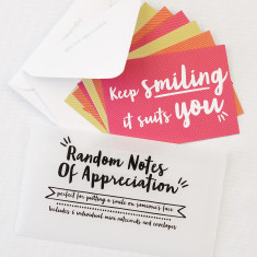 Random notes of appreciation set of notecards