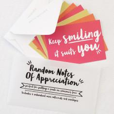 Random notes of appreciation set of notecards