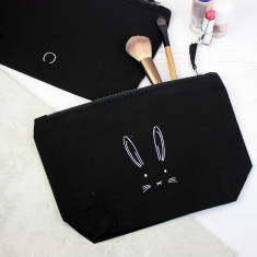 Easter bunny face accessory bag