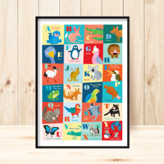 Oz animals alphabet art print (various sizes)