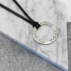 Personalised Sterling Silver Circle Pendant