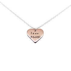 Personalised 9K rose gold heart necklace