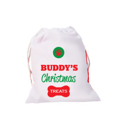 Personalised Santa paws treat bag