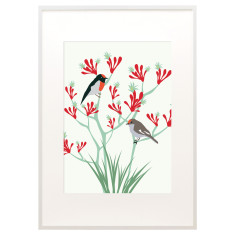 Bloom robin print