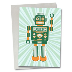 Robot Artemus greetings card