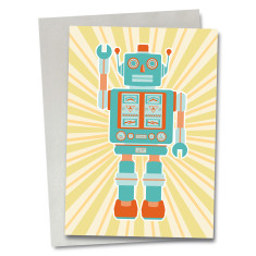 Robot Fletcher greetings card