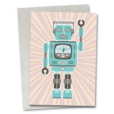 Robot Hector greetings card