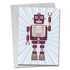 Robot Norman greetings card
