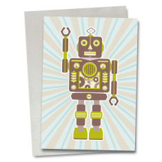 Robot Stanley greetings card