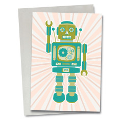 Robot Trevor greetings card