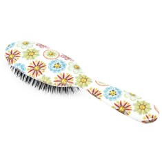 Rock & Ruddle hair brush in flowers & faces