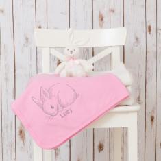 Personalised bunny baby blanket