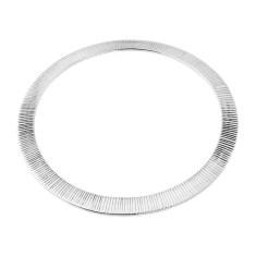 Ribbed Silver Flat Bangle