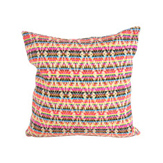 Retro Multi Shades Striped Cushion