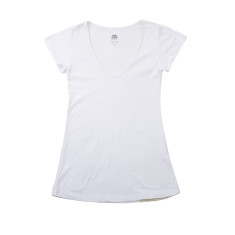 Women's basic cotton slub t-shirt in white