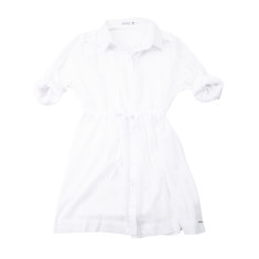 Beach tie shirt in white