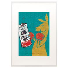 Boxing kangaroo print