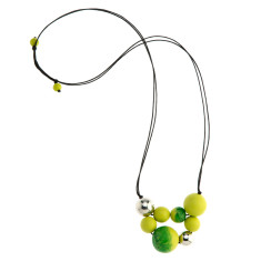 Paradiso long ball necklace in zest green