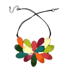 South Pacific hibiscus necklace in multi