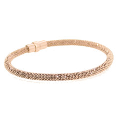 Sterling silver laser snake bracelet in rose gold