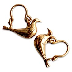 Byzantine nightingale earrings in rose gold