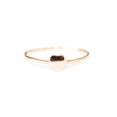 Rose gold love heart ring