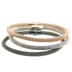 Mix & match sterling silver mesh bracelets by Torini