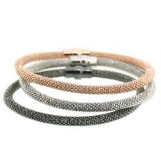 Mix & match sterling silver mesh bracelets by Torini