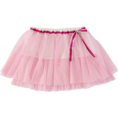 Girls' rose tulle skirt