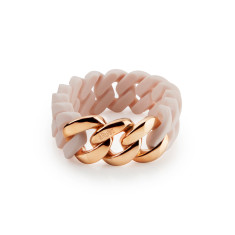 Woven bracelet in rose and rose gold