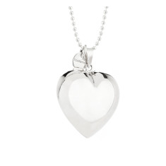 Rosie sterling silver puffed heart pendant