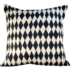 Rough diamond inkspot cushion
