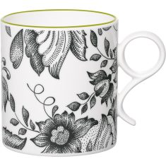 Green chintz mug