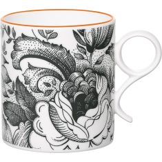 Orange chintz mug