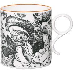 Orange chintz mug
