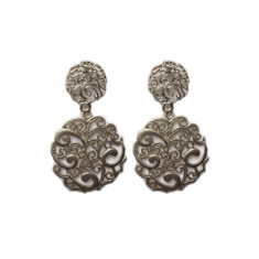 Round paisley studs (silver)