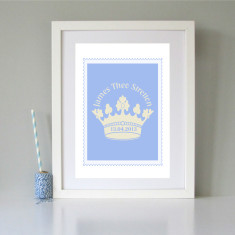 Personalised royal-themed children's art print (various colours)