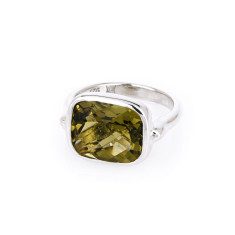 Royale lemon quartz ring