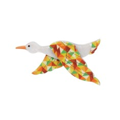Erstwilder dancing duck brooch