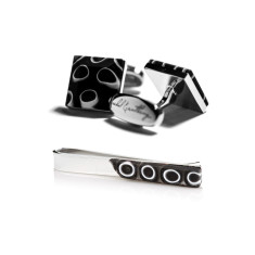 Eclissi Gift Set - Cufflinks + Tie Bar