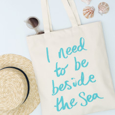 I Need To Be Beside The Sea Tote Bag