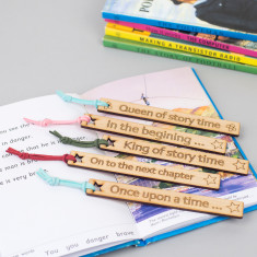 Personalised wooden bookmark