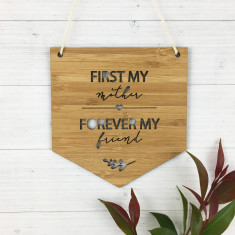 First My Mother Bamboo Wall Hanging