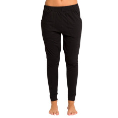 Slouch organic cotton pants in black