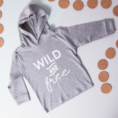 Personalised Wild And Free Children's Hoodie