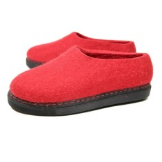 Women's Wool Loafers In Mono Red