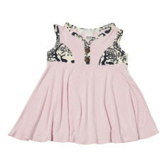 Elizabeth summer dress in pink bamboo